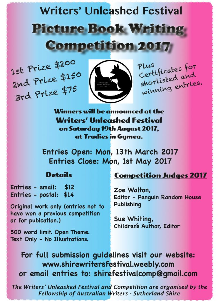 Writers Unleashed Picture Book Writing Competition 2017