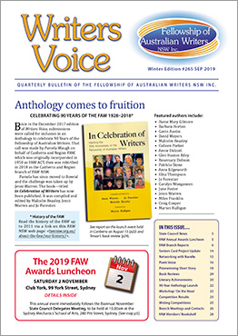 Writers Voice Sept 2019 cover image